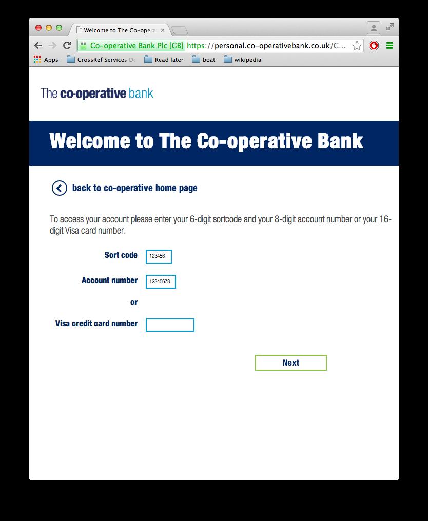 Cooperativebank Login